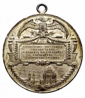 USA, Medal 1893 upamiętniający wystawę 500-lecia odkrycia ameryki