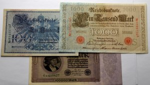 Niemcy, Zestaw banknotów