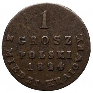 Królestwo Polskie, 1 grosz 1824 I.F.