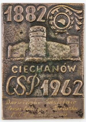 PLAKIETA, 80 LAT OCHOTNICZEJ STRAŻY POŻARNEJ W CIECHANOWIE, 1962