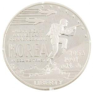 1 dolar, 38 rocznica wojny koreańskiej, USA, 1991