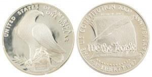 Dwie monety, 1 dolar. USA