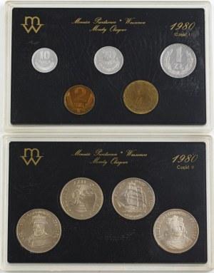 Rocznikowy zestaw monet obiegowych, Polska, 1980