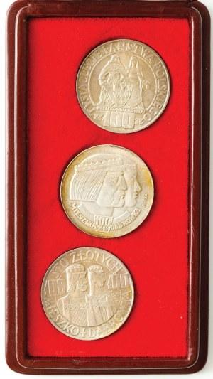 3 monety 100 zł, Mieszko i Dąbrówka, Tysiąclecie Państwa Polskiego, 1966, próba