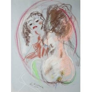 Ludwik Klimek (1912 Skoczów - 1992 Nicea) Akt z lustem - Jestem piękna