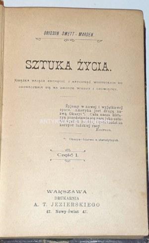 SWETT-MARDEN - SZTUKA ŻYCIA wyd. 1902