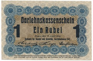 Poznań 1 rubel 1916 krótka klauzula (P3d)