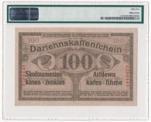 Kowno 100 marek 1918 - PMG 55