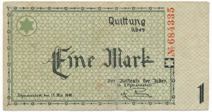 1 marka 1940 BEZ serii num. 6 cyfr - Rzadkie