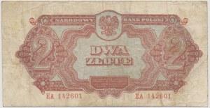 2 złote 1944 ...owe - EA - rzadki