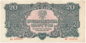 20 złotych 1944 ...owe - HA -