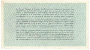 ORBIS 100 złotych - B - rzadsza jednoliterowa seria