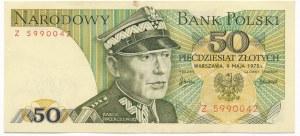 50 złotych 1975 - Z - rzadka seria
