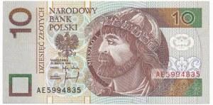 10 złotych 1994 - AE - rzadka seria