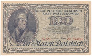 100 marek 1919 - AG - ładny