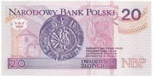 20 złotych 1994 - AA - niski numer