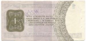 Pewex Bon Towarowy 1 dolar 1979 WZÓR HD 0000000