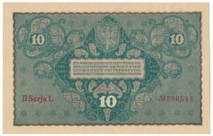 10 marek 1919 - II Serja L - jednoliterowa