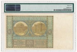 50 złotych 1925 - Ser. A - PMG 45 - bardzo rzadki, pierwsza seria