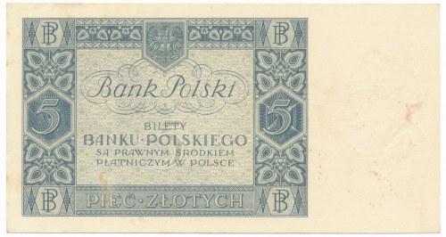 5 złotych 1930 - Ser. DW. -