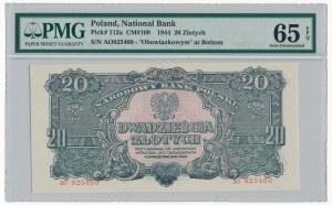 20 złotych 1944 ...owym - AO - PMG 65 EPQ