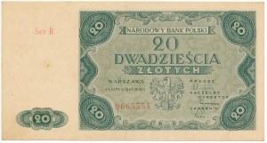 20 złotych 1947 - B -