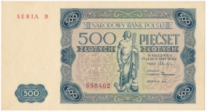 500 złotych 1947 - B -