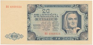 20 złotych 1948 - BI -