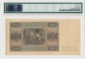 500 złotych 1948 - B - PMG 35 - RZADKOŚĆ w naturalnym stanie