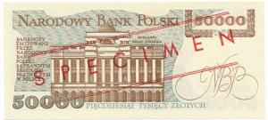 50.000 złotych 1989 WZÓR A 0000000 No.0611