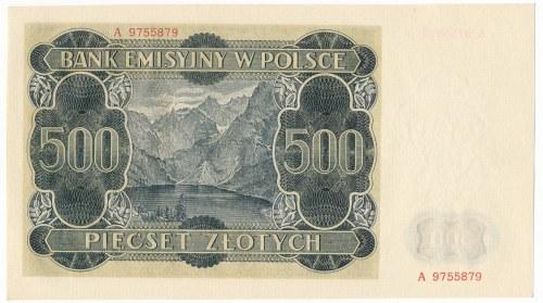 500 złotych 1940 - A -