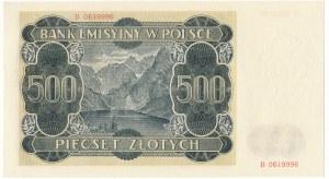 500 złotych 1940 - B -
