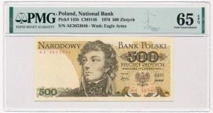 500 złotych 1976 - AE - PMG 65 EPQ RZADKOŚĆ w tym stanie