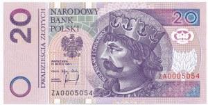 20 złotych 1994 - ZA 0005054 - seria zastępcza