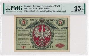 5 marek 1916 Generał Biletów - A - PMG 45 EPQ