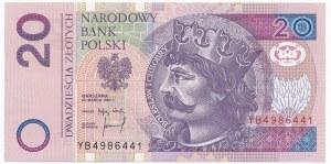 20 złotych 1994 - YB - seria zastępcza