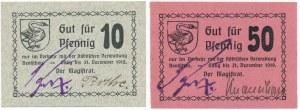 Krotoszyn, 10 i 50 fenigów 1918