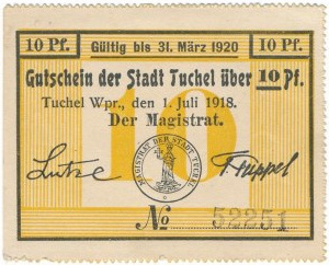 Tuchola, 10 fenigów 1918