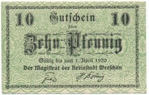 Września, 10 fenigów 1920
