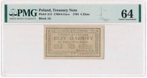 4 złote 1794 (1)(G) - PMG 64