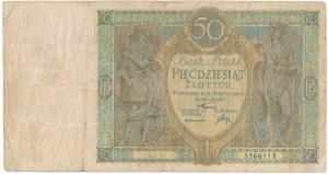50 złotych 1925 - Ser. P - rzadki banknot