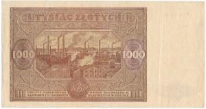 1.000 złotych 1946 - U - rzadka odmiana