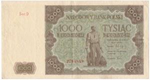 1.000 złotych 1947 - D - ładny