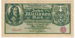 Gdańsk 10 milionów marek 1923 - bez oznaczenia serii
