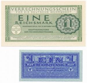 Niemcy, Wehrmacht, 1 Reichspfennig i 1 Reichsmark 1944