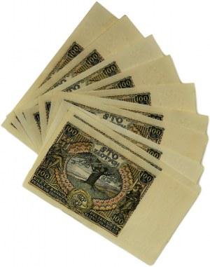Zestaw, 100 złotych 1934 (10szt.) - piękne stany