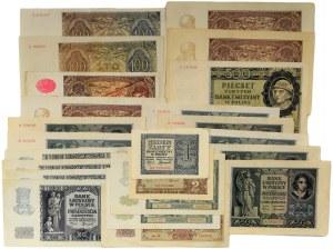 Zestaw, Banknoty okupacyjne (23szt.) - szeleszczące