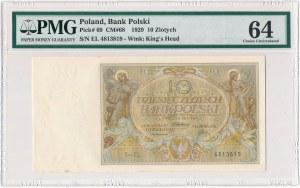 10 złotych 1929 - EL - PMG 64