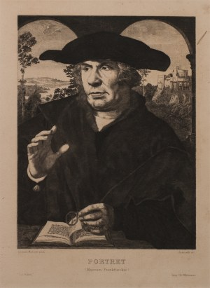 Feliks Jasiński (1862-1901), Portret uczonego - według obrazu Quentina MATSYSA (1466-1530);