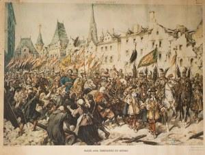 Juliusz Kossak (1824-1899), Wjazd Sobieskiego do Wiednia, 1897 - druk 1933